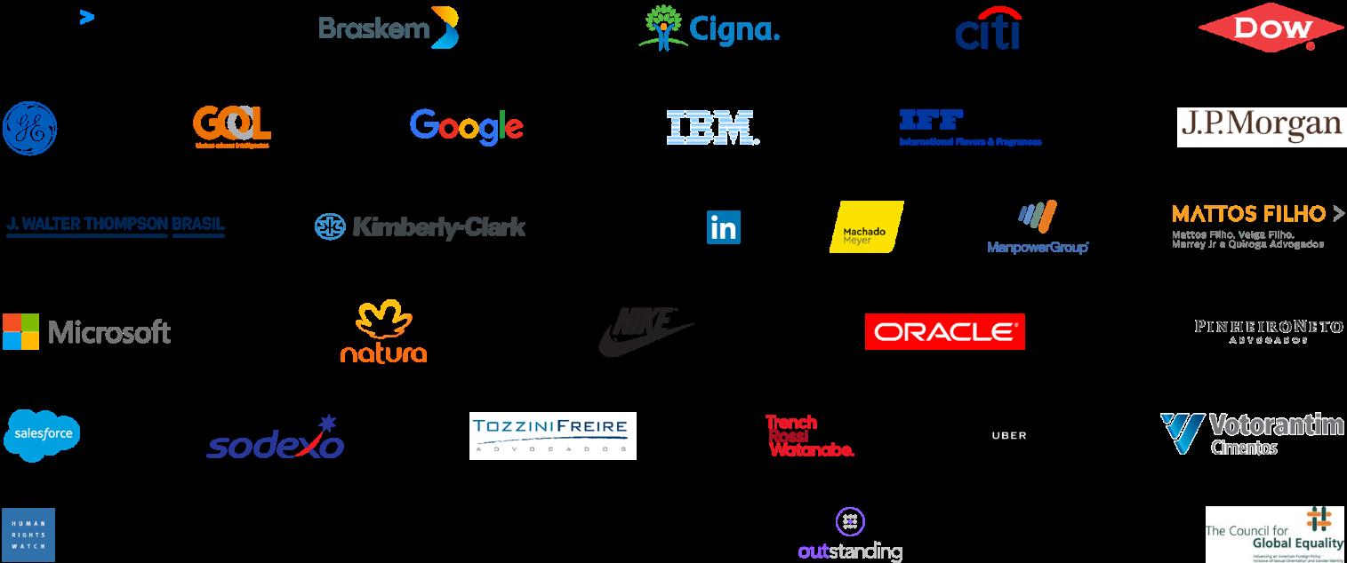 Logos das empresas que assinam a carta conjuntamente